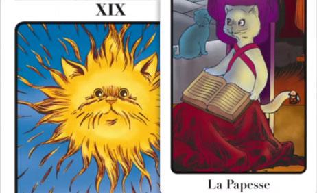 La Papesse 2 II et Le Soleil 19 XIX